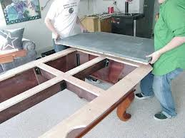 Pool table moves in Reading Pennsylvania
